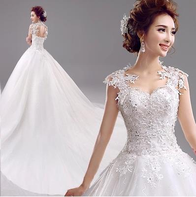 3c5709662e4a Fashionable New Removable Sexy Lace Wedding dress 2015 White Romantic Big  Tailing mermaid wedding dresses robe de mariage W166