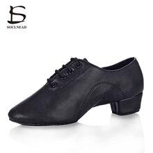 New Style Men's Latin Dance Shoes PU Black matt Soft bottom Ballroom Tango Jazz Salsa Tap Shoes High Quality Boy's Dancing Shoes