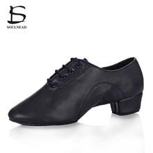 84f43ee383 Novo Estilo de Sapatos de Dança Latina dos homens PU Jazz Ballroom Tango Salsa  Sapatos de