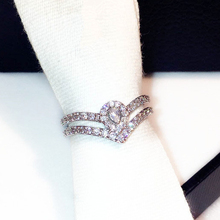 TYME 2018 luxury big cubic zirconia rings for women silver color wedding rings nice quality party