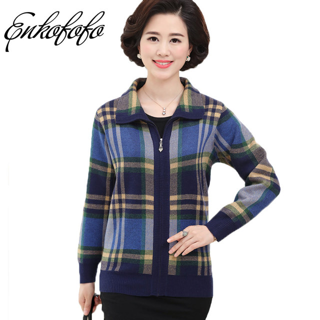 Aliexpress.com : Buy Enkofofo Women Cashmere Sweater Coat Fashion ...