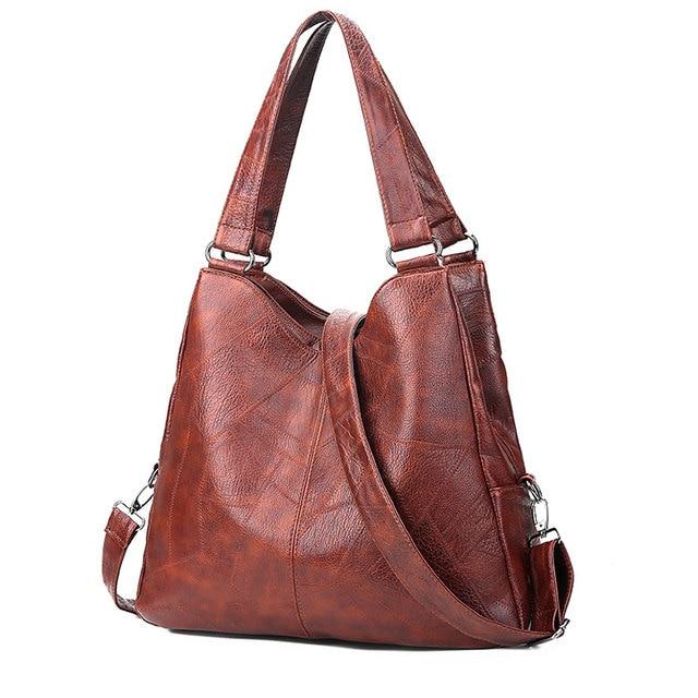 regard détaillé bonne texture le plus en vogue Vintage femmes sacs à Main femme solide multi poches bandoulière Designer  Sac un grand fourre tout décontracté provisions quotidiens Bolsas