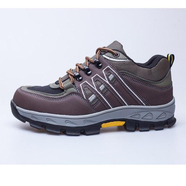 Veiligheid Werkschoenen.Mannen Stalen Neus Veiligheid Werkschoenen Mannen Casual Schoenen