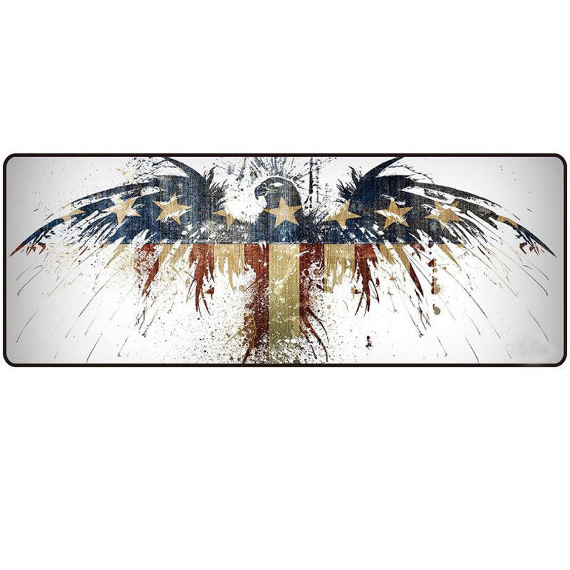 Large Size 800*300MM Creative Rubber Speed Gaming Mouse Pad Mats Computer Desk Mouse Mat for Gamer Eagle flag/Cat/Skeleton  stitched edge rubber cs go large gaming mouse pad pc computer laptop mousepad for apple logo style print gamer speed mice mat