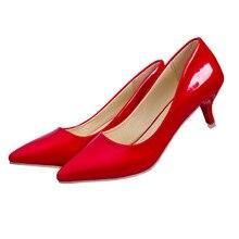 2016ยี่ห้อผู้หญิงรองเท้าส้นต่ำผู้หญิงปั๊มกริชบางส้นรองเท้าผู้หญิงชี้นิ้วเท้ารองเท้าแต่งงาน