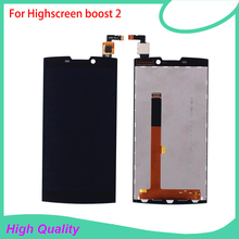 LCD Display Touch Screen For Highscreen boost 2 se PFC 9108 9169 9267 Black Color Mobile Phone LCDs Free Shipping