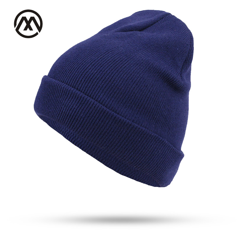 Fashion Simple knitted Cap Autumn Winter   Skullies     Beanie   Women Men Couples Stretchy Bonnet Cotton Knit Hedging Stocking Hat bone