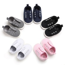 Toddler Baby Boy Girl Anti-slip Canvas Shoes For Soft Sole F