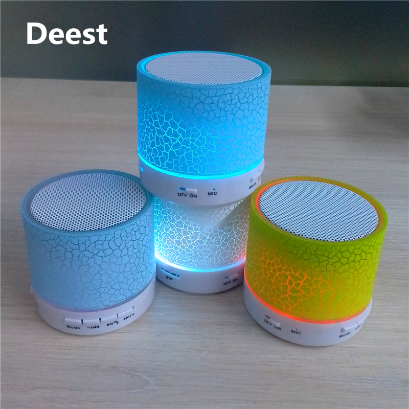 Deest A9 LED Portable Mini Bluetooth Speakers Support TF AUX Music for iPhone 7 Samsung S7