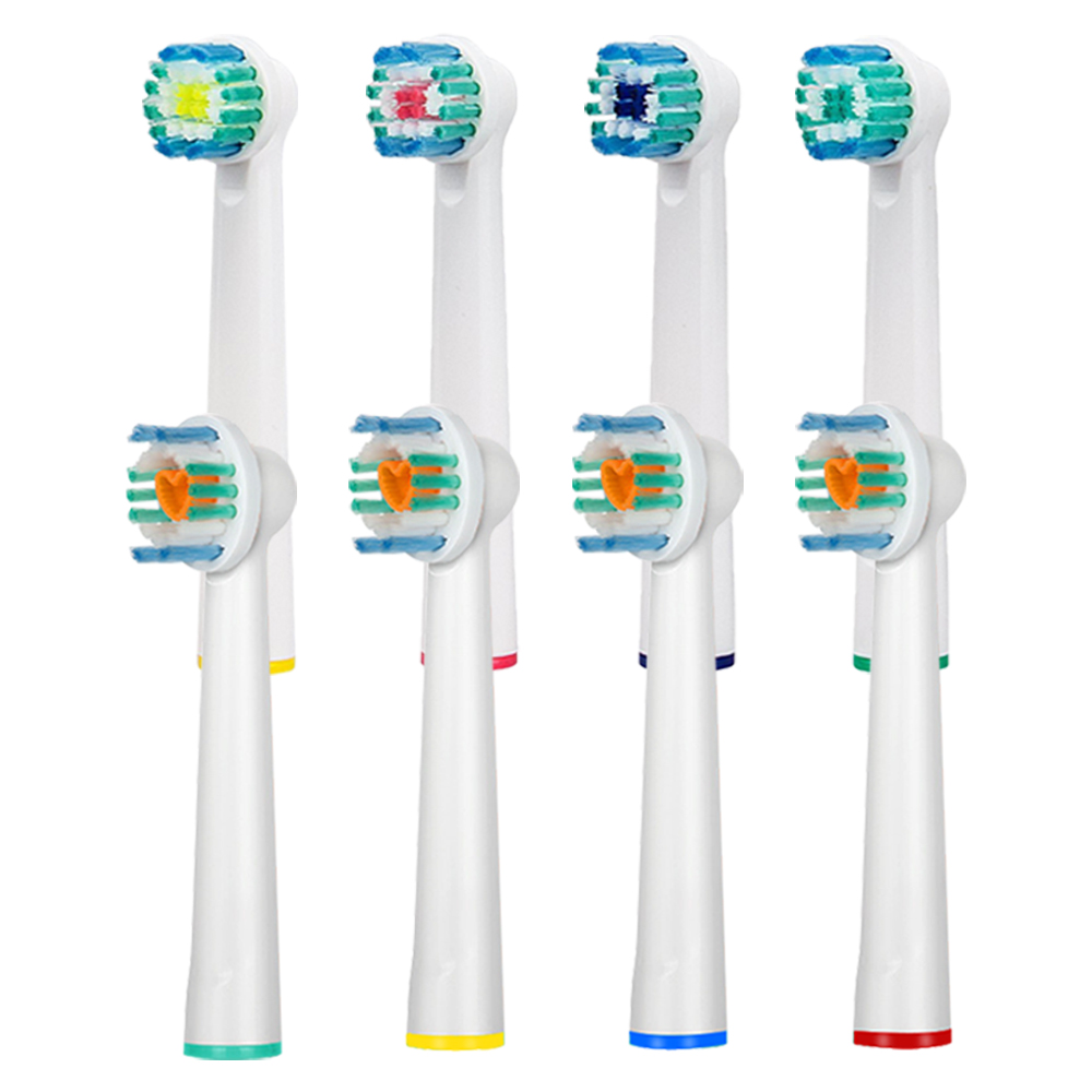 8PCS Replacement Electric Toothbrush Heads for Oral B Braun Brush Heads Soft Triumph Oral Hygiene Dual Clean Complete 3D Excel 12pcs electric toothbrush heads braun brush heads for oral b soft replacement triumph 3d excel ortho braces teeth clean tools