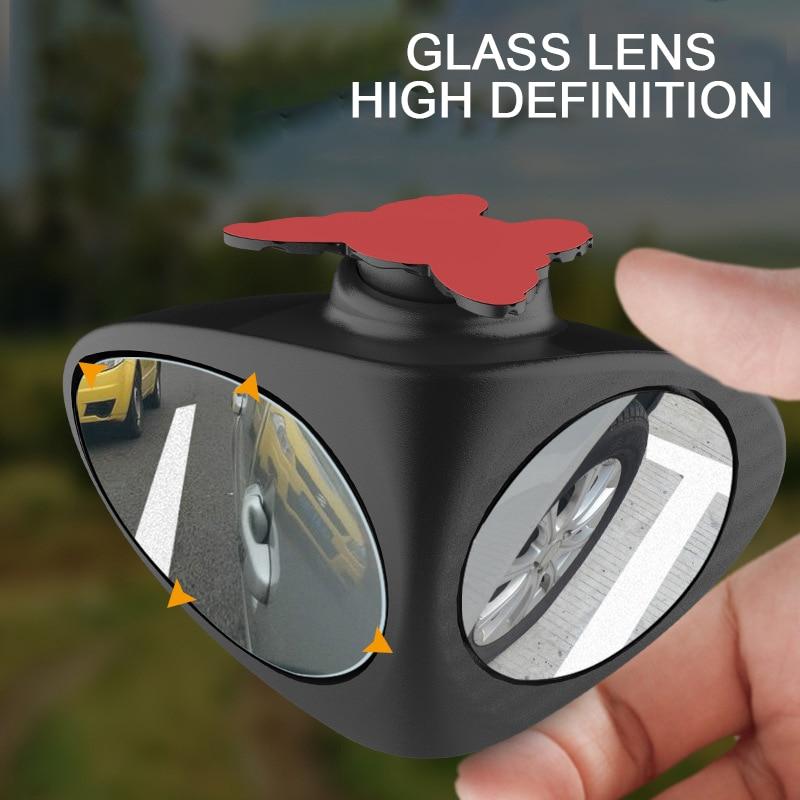 1 pedaço Carro Blind Spot Espelho Convexo de 360 Graus Rotatable 2 Automibile Do Lado Espelho de Vista Traseira de Estacionamento Exterior Acessórios de Segurança