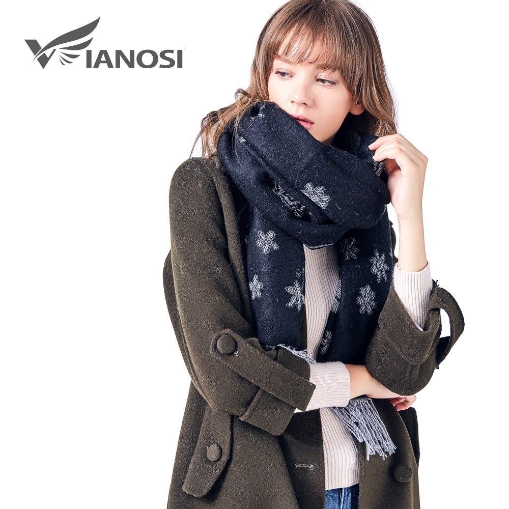 VIANOSI Winter   Scarf   for Women Brand Pashmina Warm   Scarf     Wrap   Tassel Flower Thick Foulard Shawls and   Scarves   Hijab 211