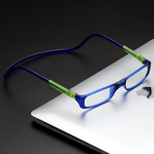 74f6bf9e2 Novos Óculos de Leitura Magnética Com Silicone Pescoço Pendurado Titular  Grampo Em Ímã Dioptrias do Olho Óculos de Armação Homen.