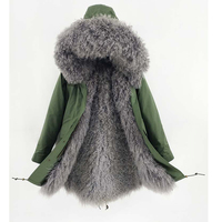 Natural mongolia sheep fur winter coats women real fur coat outerwear 2018 new parkas Jackets Russian women warm overcoat