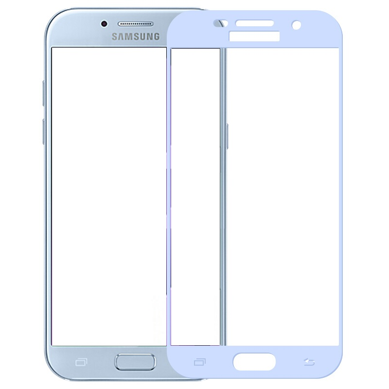 Full cover Tempered Glass for samsung Galaxy A5 2017 A520F A520 5 2 inch Screen Protective Gold White Blue Black frame all edge in Phone Screen Protectors from Cellphones Telecommunications