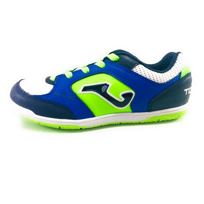 Joma Top Flex Boy-blue synthetic FOOTBALL indoor shoes, back to school verano 2018