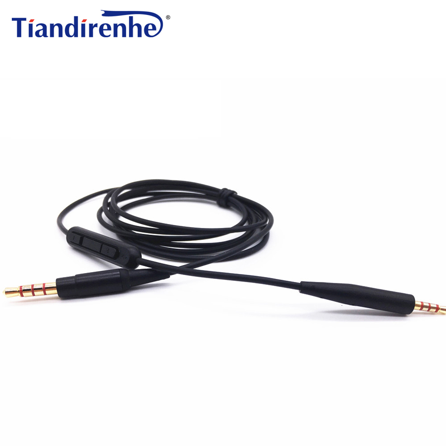 Headphone Cable for Bose QC25 OE2 OE2i Headphone Cords with MIC Remote Volume Wires 2.5mm update to 3.5mm for iPhone7 xiaomi mp3 image