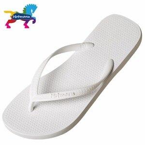 Image 2 - Hotmarzz Women Summer Beach Sandals Slim Flip Flops White Rubber Slippers Designer Brand Shoes Slides  House Pool Slippers