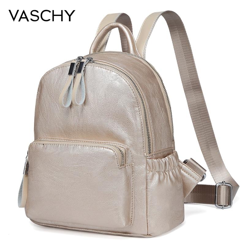 VASCHY Golden Mini Backpack Purse e00a43f7a170a