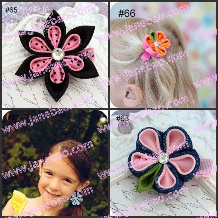 Микс 45 шт цветок канзаши заколки для волос катушка для значка заколки для волос держатель(сшить вместе