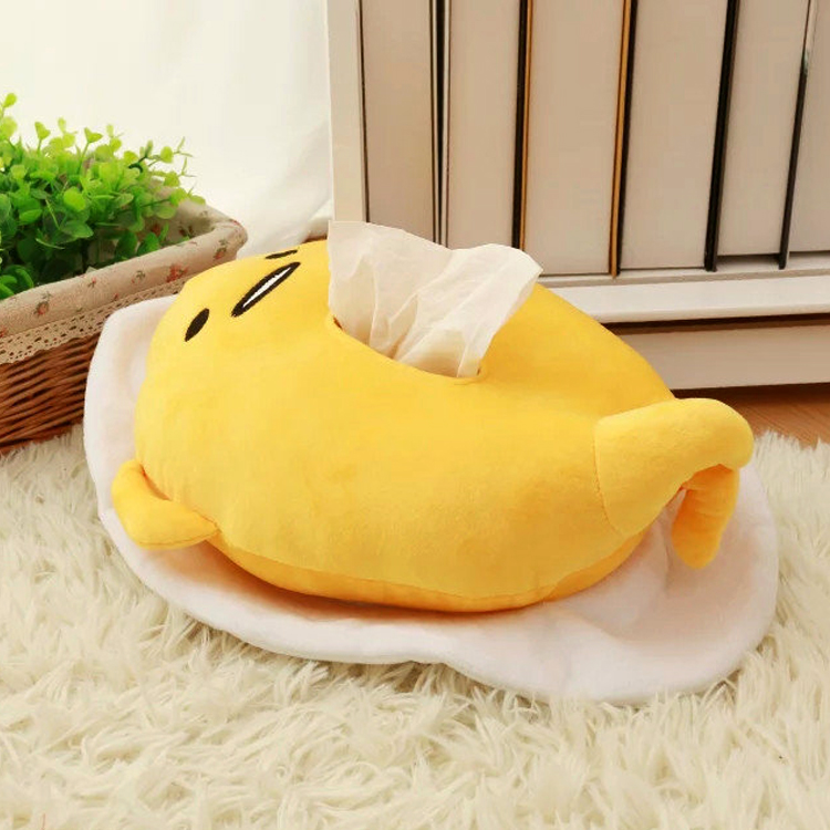 Candice guo super cute creative plush toy funny gudetama egg kawaii stuffed tissue paper box cover kid birthday gift present 1pc candice guo cute cartoon plush toy sushi gudetama lazy egg kawaii stuffed small doll creative birthday christmas gift 1pc