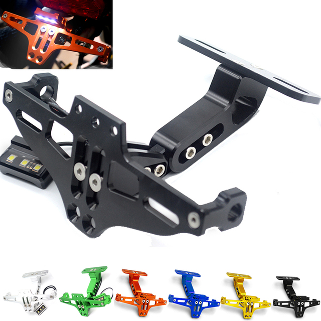 Motorcycle Fender Eliminator Registration Plate Bracket License Plate Holder LED Light For YAMAHA YZF R25 R3  sc 1 st  AliExpress.com & Motorcycle Fender Eliminator Registration Plate Bracket License ...