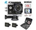 """Wimius 4 k câmera de esportes de ação wi-fi ultra hd 2.0 """"lente 16MP 1080 P Mini Capacete De Vídeo Cam ir Debaixo D' Água 40 M Pro + Saco de Proteção"""