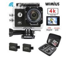 Wimius 4K Action Sports Camera Ultra HD Wifi 2.0″ Lens 16MP 1080P Mini Video Helmet Cam go Underwater 40M Pro + Protective Bag