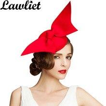69129b34 Fascinator Hats Wine Black Red Angel Wing Pure Australian Wool Women Ladies  Pillbox Hat Cocktail Formal