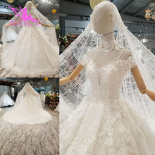 AIJINGYU Wedding Dress Tulle Switzerland Medieval Party Ball Size Plus Beautiful engagement Sexy Gown Simple Bridal Gowns