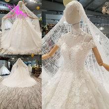 Aijingyuウェディングドレスチュールスイス中世パーティーボールサイズプラス美しい婚約セクシーなガウンシンプルなブライダルドレス