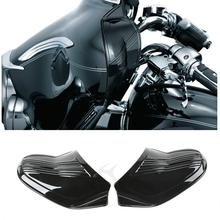 Motorcycle Black/Chrome Batwing Inner Fairing Cover For Harley Touring Electra Street Glide FLHX FLHT 96-13 99 11 chrome motorcycle inner fairing cap cover case for harley davidson touring electra street glide 2014 2015 2016