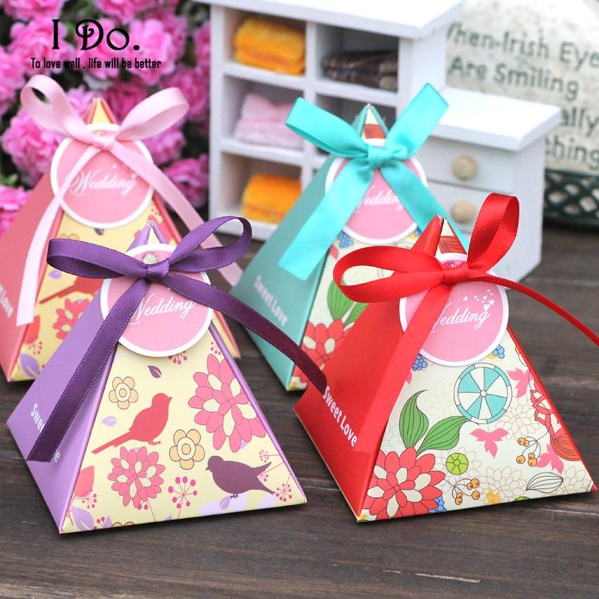 Free Shipping 10pcs Spring Garden Wedding Favor Boxes Wedding Candy