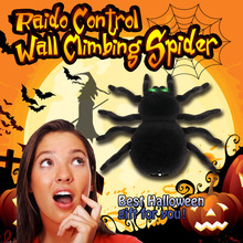 radio control simulation furry electronic spider scary wall climbing spider toy kids gift halloween surprise rc animal - Kids Halloween Radio