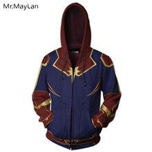 3D Printed Movie Marvel Captain Zipper Hoodies Men/women Hiphop Streetwear Jackets 2019 New Design Mens Cool Tracksuits Clothing