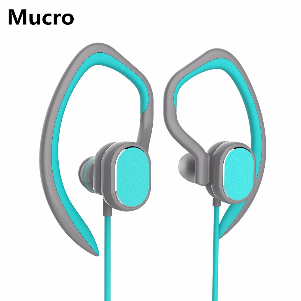 Mucro Bluetooch Headphone Wireless Sport Headphone with Mic IPX5 Waterproof HD Stereo In Ear Earbuds for Running Sports Headset dacom g06 ipx5 waterproof armor sports headset wireless bluetooth v4 1 earphone ear hook running headphone with mic for iphone