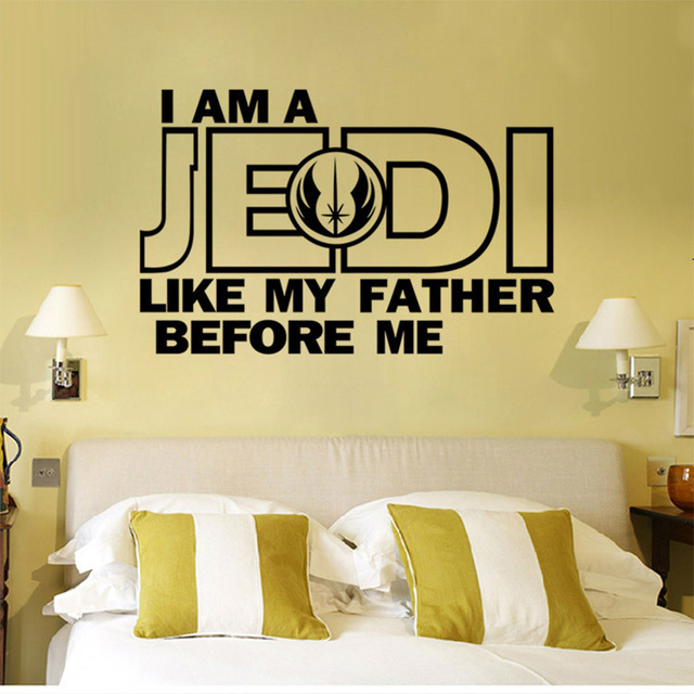 Star Wars I Am a Jedi Wall Art Sticker Decal Home DIY Decoration ...