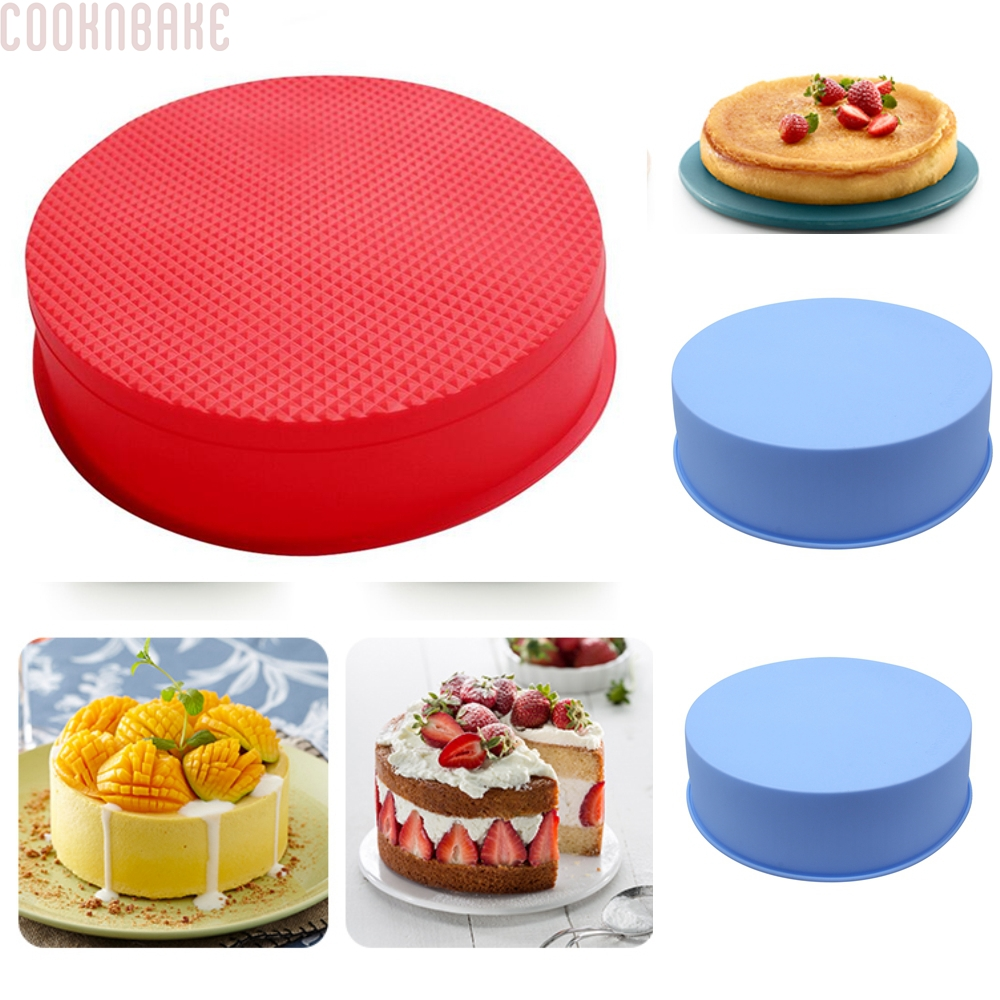 COOKNBAKE DIY Silicone Cake Mold Big Round Cake Mold  Easy Demoulding  happy birthday cake mold CDSM-123