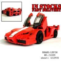 Lepin 21009 정품 창조적 인 시리즈 인쇄 FXX 1:17 자동차 경주 F1 자동차 세트 빌딩 블록 벽돌 장난