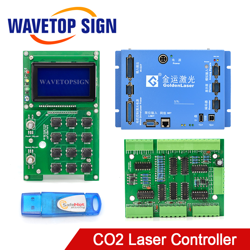 Golden Laser Cutting Machine Mainboard Control Card Offline Card Display Control Panel Dongle Signal Conversion Board