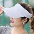 Mulheres Chapéu de Sol Nova Promoção Adulto Unisexo homem Mulher Open Top Viseiras Chapéus de Beisebol Ajustável Respirável Famale Masculino Ao Ar Livre Cap