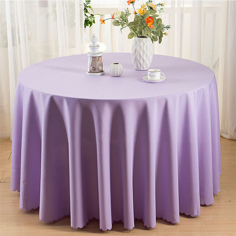 Europe Solid Table Cloth Round 19 Colors Dustproof Tablecloths Polyester Table Cloths Decoration Home Table Cover