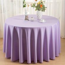 Europa Solide Tisch Tuch Runde 19 Farben Staubdicht Tischdecken Polyester Tischdecken Dekoration Tisch Abdeckung Party mesa