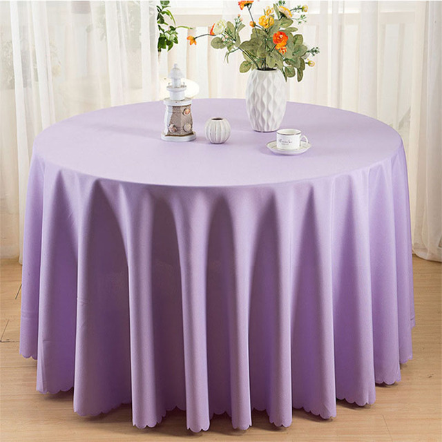 Europe Solid Table Cloth Round 19 Colors Dustproof Tablecloths Polyester Table Cloths Decoration Home Table Cover Party mesa