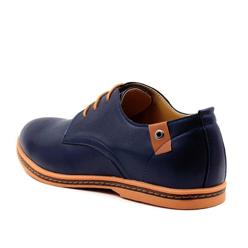 Cosidram плюс Размеры 47 48 Для мужчин повседневная обувь из искусственной кожи мужская кожаная обувь Демисезонный мужской обуви модные Резиновая подошва rmc-058