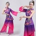 Disfraces Древний Китайский Костюм Народные Женщины Танцевальные Костюмы Вентилятор Классический 2016 Новый Yangko Выступления Квадрата Специальный