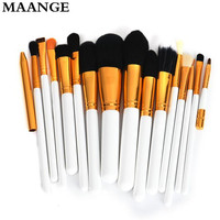 15PCS Maange Brand Professional Makeup Brushes Wooden Lip Eyeliner Powder Foundation Makeup Brush Set Maquiagem
