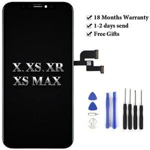 Горячая продажа для мобильного телефона экран для iPhone X XS MAX XR ЖК-дисплей в сборе Замена 100% тест без битых пикселей Замена