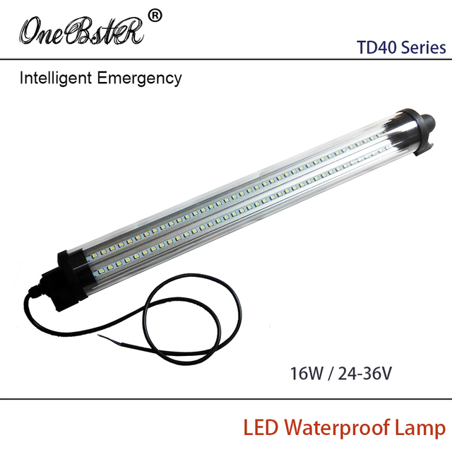 HNTD 16W DC 24V-36V Intelligent Emergency LED Proof lights Cylindrical transparent Waterproof IP67 TD40 Free shipping