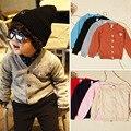 Ребенок Горячей продажи весна осень дети вязаный кардиган свитер дети с длинным рукавом хлопок пальто мальчики девочки О-Образным Вырезом и пиджаки одежда